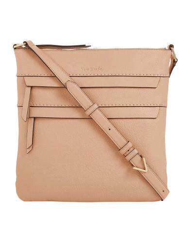 Mallory Triple Zip Hipster in Pink Sand