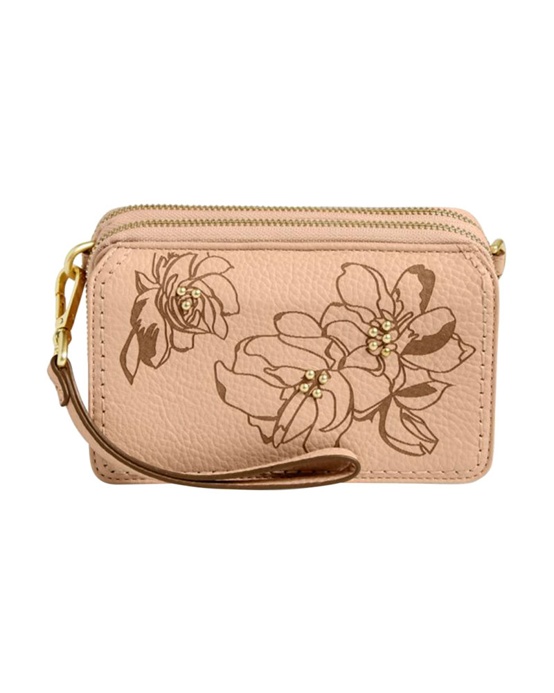 f11a510e3 Vera Bradley Mallory RFID All in One Crossbody in Sycamore Pink Sand | The  Paper Store