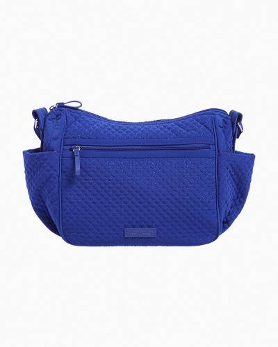 Iconic On the Go Crossbody in Microfiber Gage Blue