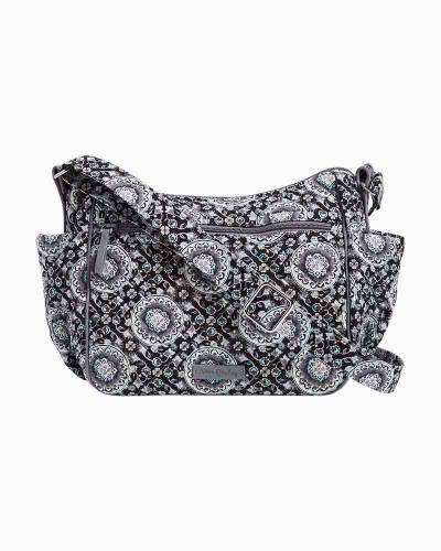 Iconic On the Go Crossbody in Charcoal Medallion