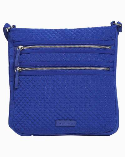 Iconic Triple Zip Hipster in Microfiber Gage Blue