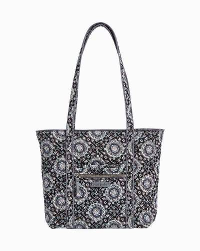 Iconic Small Vera Tote in Charcoal Medallion