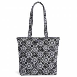 Vera Bradley Iconic Tote Bag in Charcoal Medallion