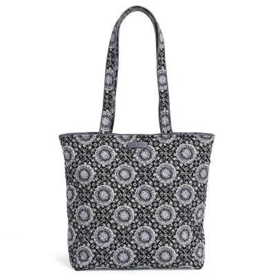 Iconic Tote Bag in Charcoal Medallion