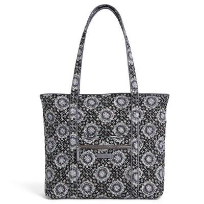 Iconic Vera Tote in Charcoal Medallion