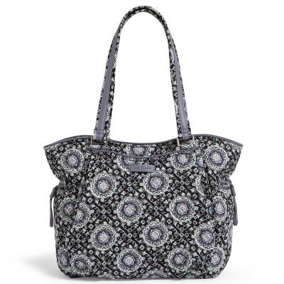 Iconic Glenna Satchel in Charcoal Medallion