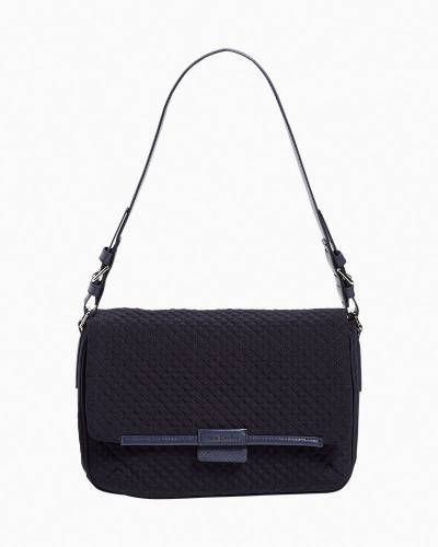Iconic Shoulder Bag in Microfiber Classic Navy
