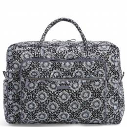 Vera Bradley Iconic Grand Weekender Travel Bag in Charcoal Medallion