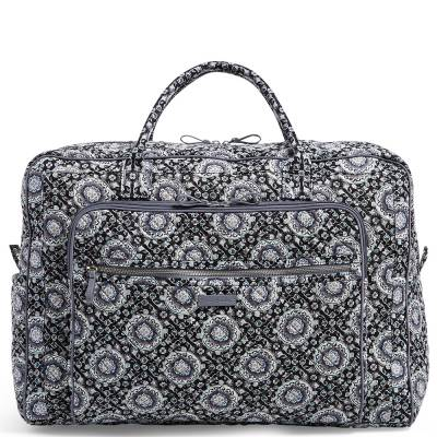 Iconic Grand Weekender Travel Bag in Charcoal Medallion