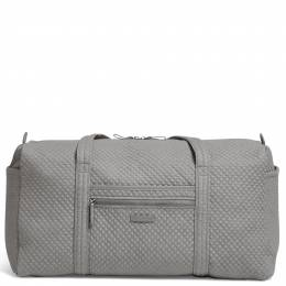 Vera Bradley Iconic Large Travel Duffel in Denim Gray