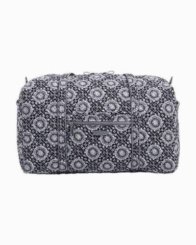 Iconic Large Travel Duffel in Charcoal Medallion