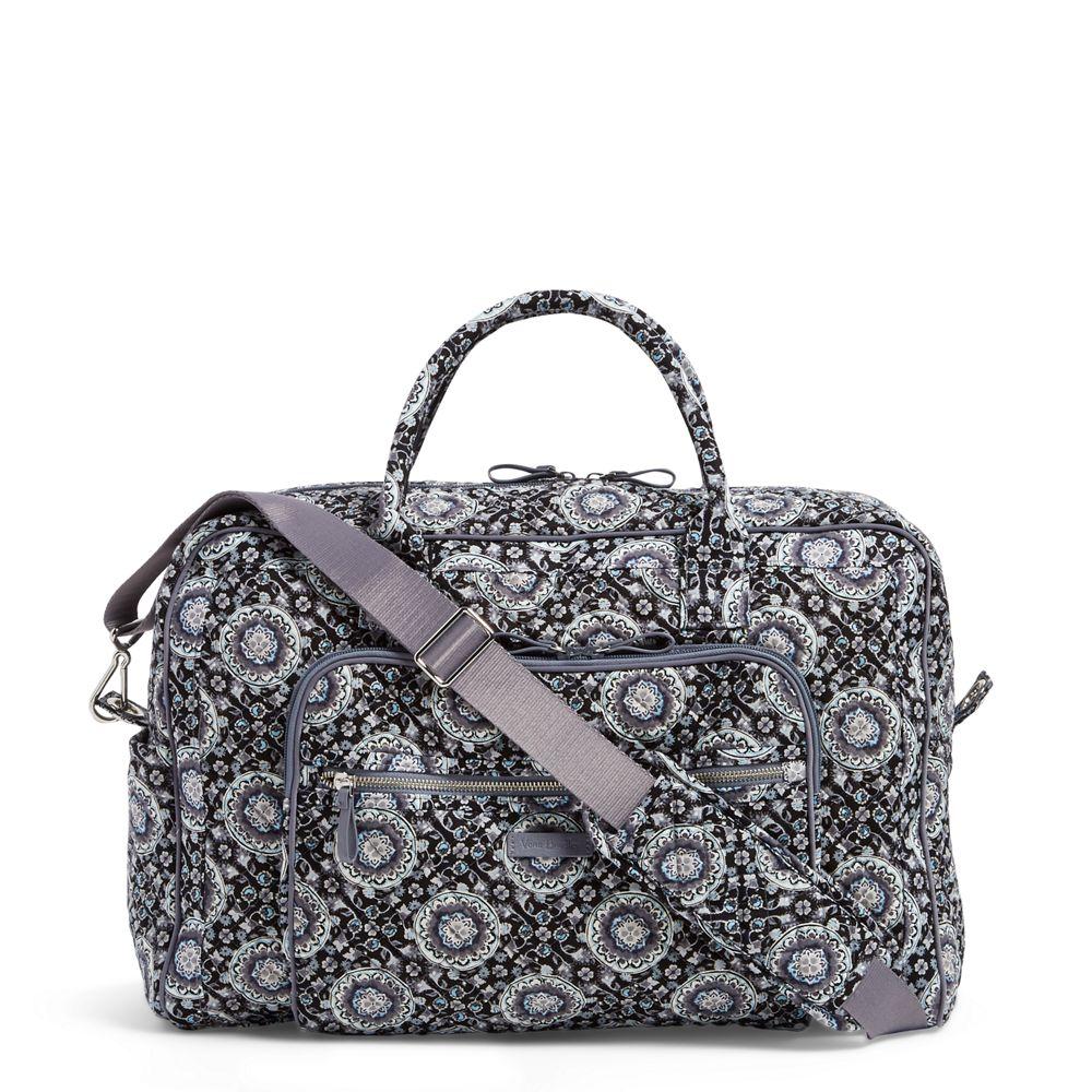 Vera Bradley Iconic Weekender Travel Bag in Charcoal Medallion (NO STOCK  994 2.14.19)  6fc52cbb21068