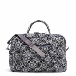 Vera Bradley Iconic Weekender Travel Bag in Charcoal Medallion