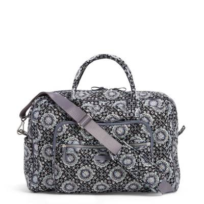Iconic Weekender Travel Bag in Charcoal Medallion