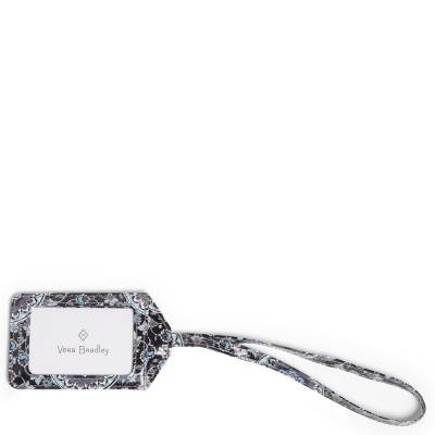 Iconic Luggage Tag in Charcoal Medallion