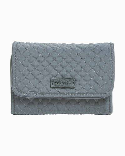 Iconic RFID Riley Compact Wallet in Microfiber Charcoal
