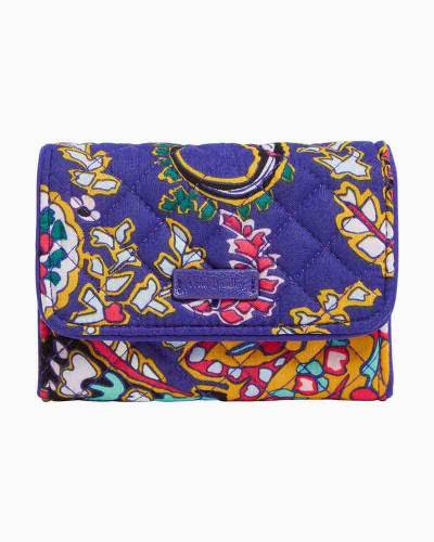 Iconic RFID Riley Compact Wallet in Romantic Paisley