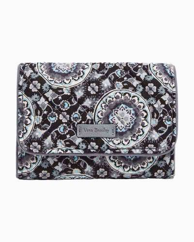 Iconic RFID Riley Compact Wallet in Charcoal Medallion