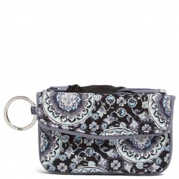 Vera Bradley Iconic Jen Zip ID in Charcoal Medallion