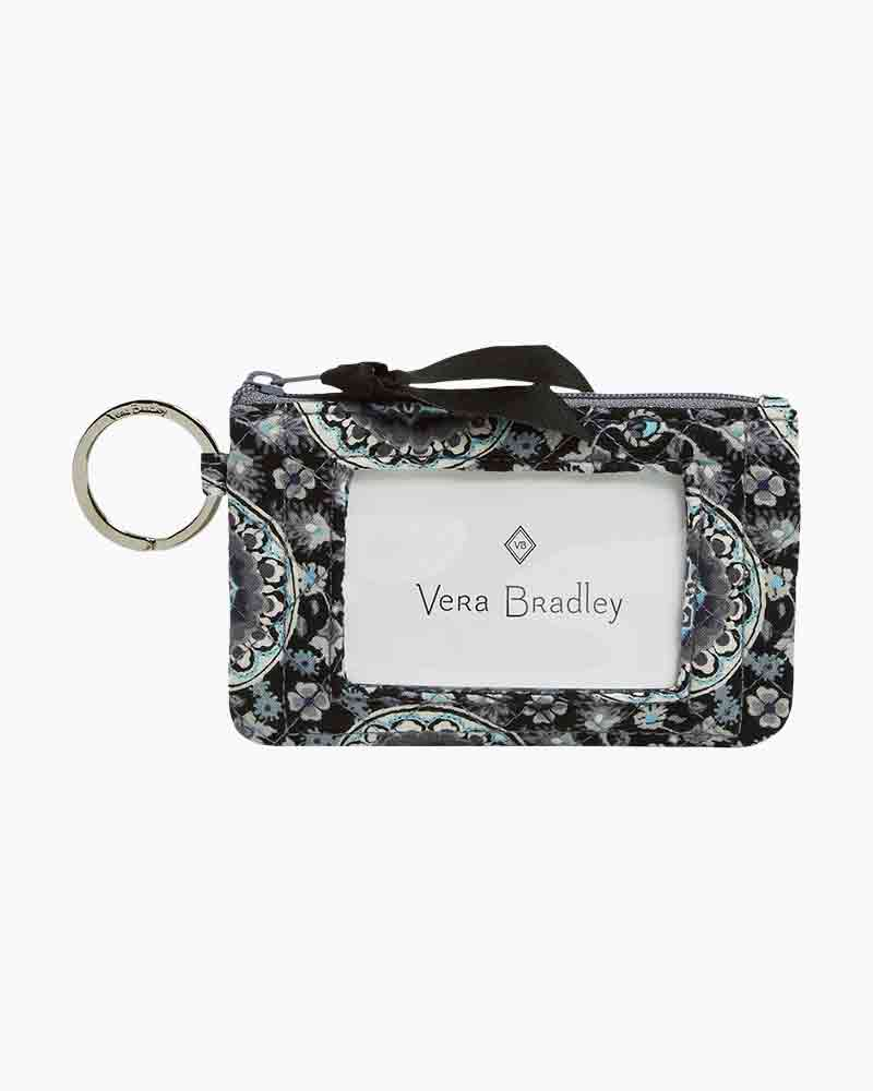 a8ad063f6465 Vera Bradley Iconic Zip ID Case in Charcoal Medallion