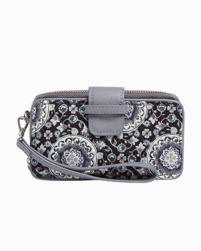 RFID Smartphone Wristlet in Charcoal Medallion