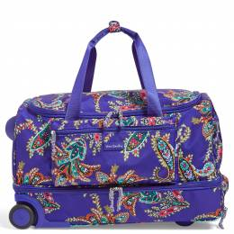 Vera Bradley Lighten Up Foldable Rolling Duffel in Paisley Swirls