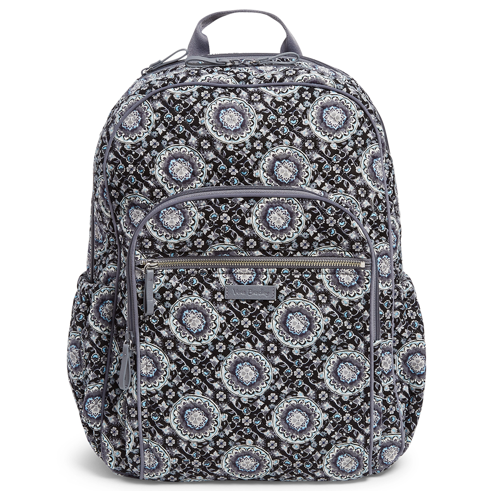 Vera Bradley Iconic Campus Backpack in Charcoal Medallion  c789aa7fbbd3d