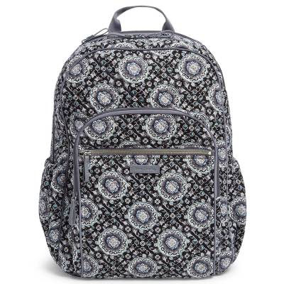 Iconic Campus Backpack in Charcoal Medallion