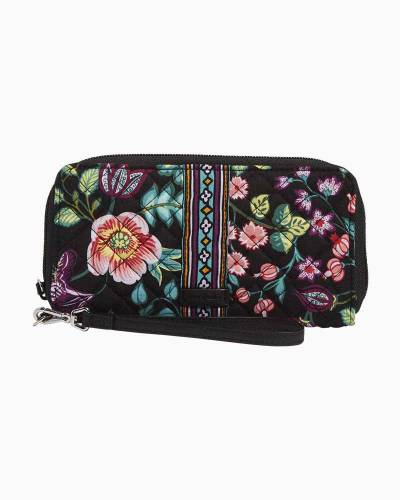 Iconic Double Accordion Wristlet in Vines Floral