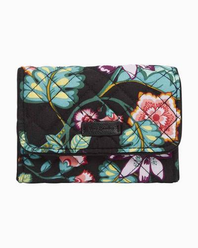 Iconic RFID Riley Compact Wallet in Vines Floral