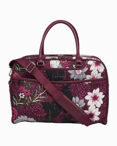 Iconic Weekender Travel Bag in Bordeaux Meadow