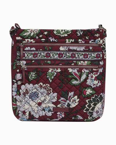 Iconic Triple Zip Hipster in Bordeaux Blooms