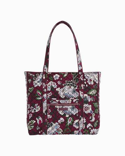 Iconic Vera Tote in Bordeaux Blooms