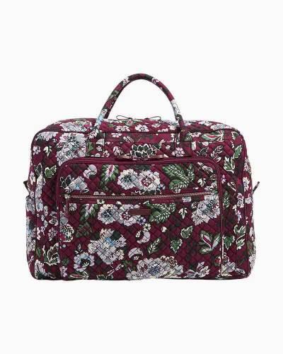Iconic Grand Weekender Travel Bag in Bordeaux Blooms