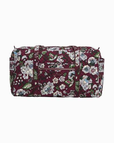 Iconic Large Travel Duffel in Bordeaux Blooms