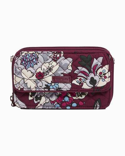 Iconic RFID All in One Crossbody in Bordeaux Blooms