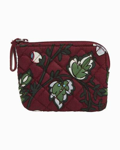 Iconic Coin Purse in Bordeaux Blooms
