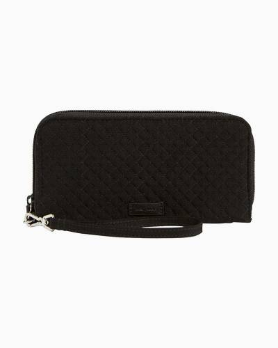 Iconic RFID Accordion Wristlet in Microfiber Classic Black