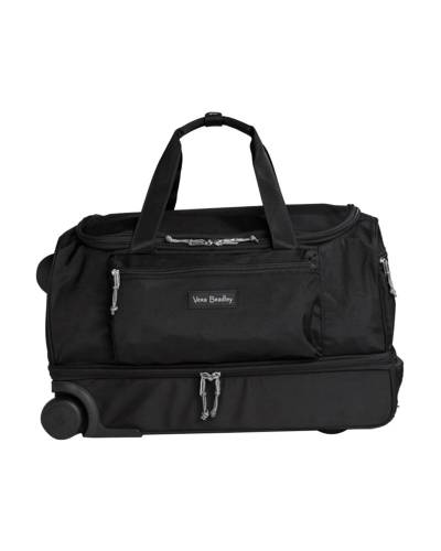 Lighten Up Foldable Rolling Duffel in Black