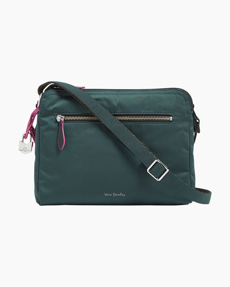 549b0411e9 Vera Bradley Midtown Crossbody in Midtown Woodland Green