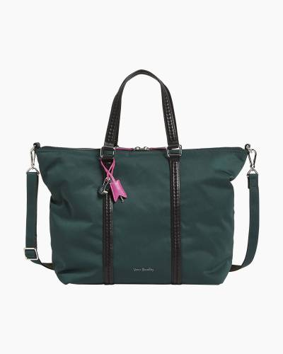 Midtown Small Tote in Midtown Woodland Green