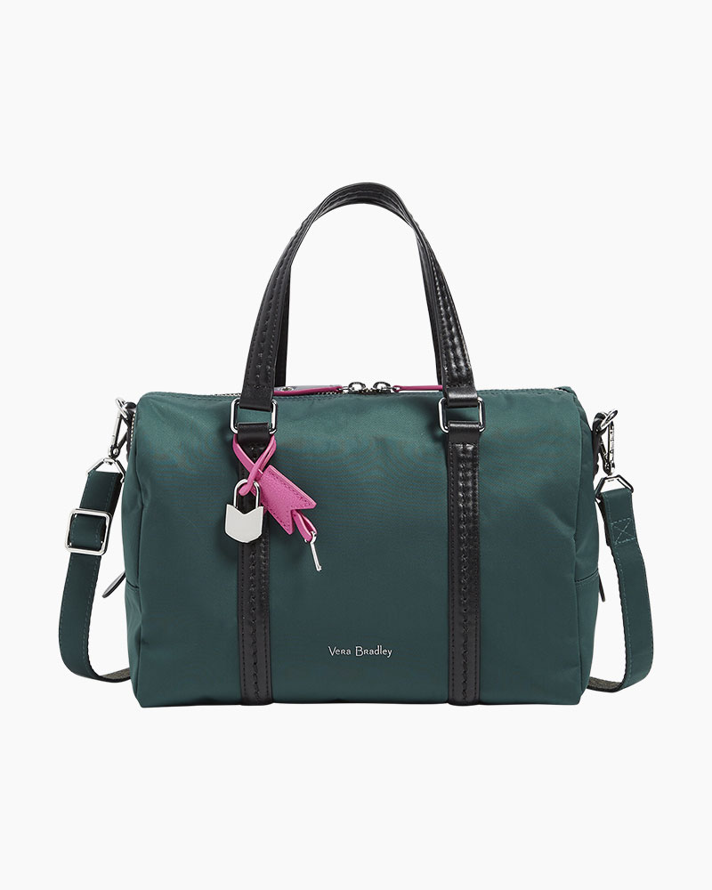 470d2f44ff Vera Bradley Midtown Satchel in Midtown Woodland Green