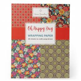 Vera Bradley Oh Happy Day Wrapping Paper Book