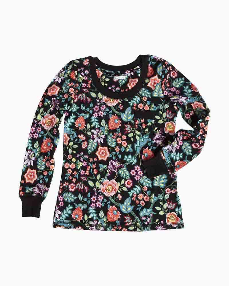 b5232ec1fa Vera Bradley Henley Knit Pajama Top in Vines Floral