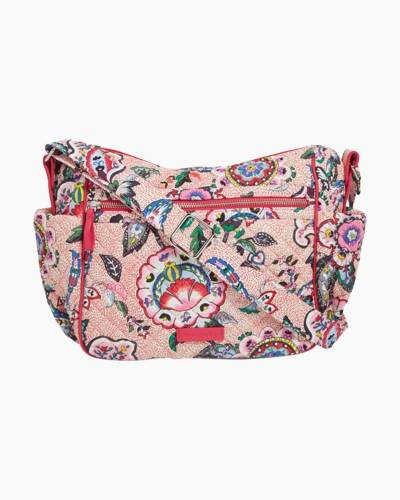 Iconic On the Go Crossbody in Stitched Flowers