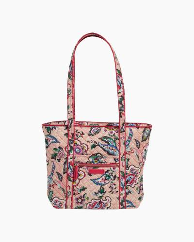 Iconic Small Vera Tote in Stitched Flowers