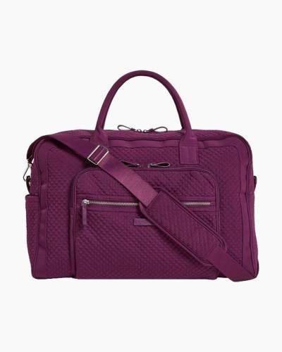 Iconic Weekender Travel Bag in Microfiber Gloxinia Purple