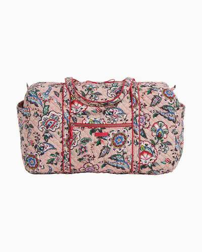 Iconic Large Travel Duffel in Stitched Flowers