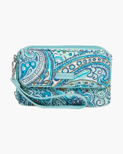 Iconic RFID All in One Crossbody in Daisy Dot Paisley