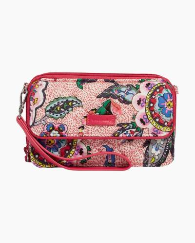 Iconic RFID All in One Crossbody in Stitched Flowers